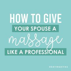 How to give a massage like a professional! The perfect, relaxing at-home date night for two. Love Massage, Massage Tips, Massage Couples, Romantic Massage Ideas, Romantic Ideas, Romantic Gifts, Creative Date Night Ideas, Date Night Ideas For Married Couples, Inexpensive Dates