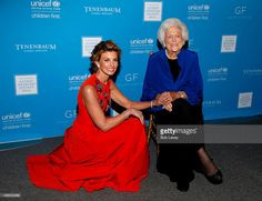 Singer Faith Hill (L) and honoree Barbara Bush (R) attends the UNICEF Audrey Hepburn Society Ball honoring former first lady Barbara Bush at the Hilton Americas Hotel on November 6, 2015 in Houston, Texas.