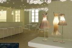 Glowing Dress Forms #lighting