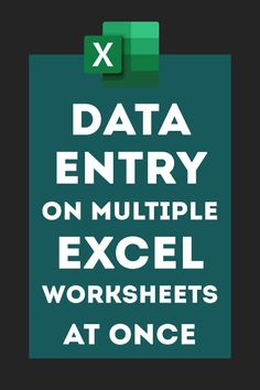 Entering data on multiple Excel worksheets in one go Computer Help, Computer Programming, Computer Tips, Vba Excel, Microsoft Excel Formulas, Excel For Beginners, Excel Hacks, Data Entry, Worksheets