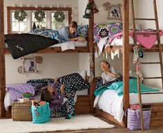 Youngsters Bedroom Furnishings – Bunk Beds for Kids Bunk Beds Small Room, Bunk Beds Built In, Bunk Beds With Stairs, Kids Bunk Beds, Small Rooms, Small Spaces, Teen Lounge Rooms, Kid Rooms, Triple Bunk Beds