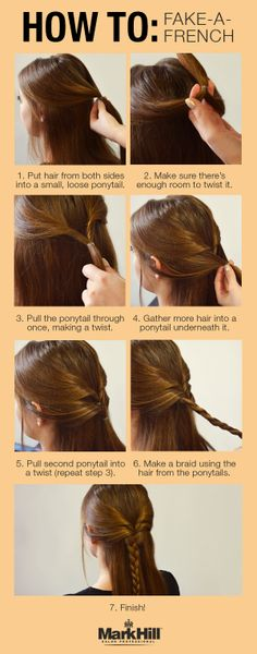 Don't get it twisted, this faux French braid is simpler than it looks! Follow the easy step-by-step to see for yourself.