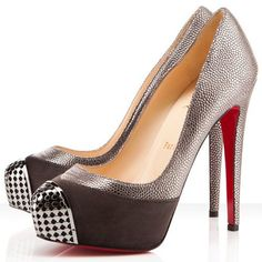 Brown Christian Louboutin Maggie Pumps 140mm