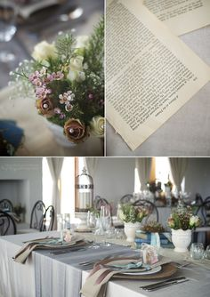 Vintage inspired wedding decor with beautiful old books and ribbons | Images by Cape Town and Boland wedding photographer Michelle Joubert-Martin Photography
