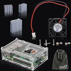 Eeekit for raspberry pi 2 #model b/pi b+ #cooling #fan+heatsinks+crystal case box,  View more on the LINK: http://www.zeppy.io/product/gb/2/191547443988/