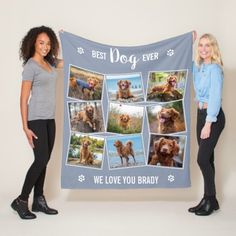 Best Dog Ever Custom Gray Photo Collage Fleece Blanket birthday for best friend, friends ideas, unagi friends #bestfriendchallenge #bestfriendsfor20years #BestFriendShit, christmas table decorations, christmas tablescapes, christmas table, christmas dining table decor Best Dog Quotes, Pet Loss Quotes, Dog Christmas Gifts, Christmas Mom, Dog Blanket, Photo Blanket, Dog Mom Gifts, Photo Memories, In Loving Memory