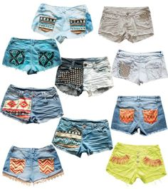 So many short ideas for summer! Love these- so cute!! But all of these shorts might need to be longer;)