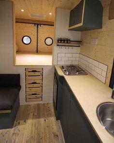 Diy Van Conversion Ideas Under 411000 41 Diy Van Conversions, Camper Van Conversion Diy, Motorhome Conversions, Camper Life, Truck Camper, Bus Life, Camping Vans, Kombi Home, Caravan Renovation