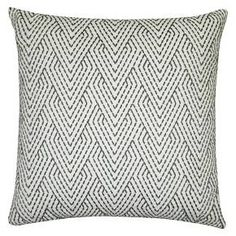 "Threshold™ Gray Embroidered Pillow 18""x18"" : Target"