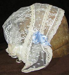 1860 ladies lace cap - Google Search
