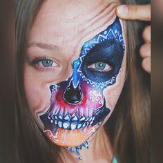 Halloweenpainting Sugar Skull, Halloween Makeup, Mirjam Munstein