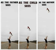 Throwing Your Child In The Air: How The Father Sees It Vs How The Mother Sees It.