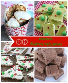 12 Homemade Christmas Candy Recipes. Looking for the perfect homemade Christmas Candy idea to gift to neighbors, family and friends? Look no further than this yummy collection! From chocolate bark to decadent fudge, caramel corn and nut clusters, you're about to become the favorite on the block! #christmascandy #christmascandyrecipes #homemadechristmasgifts #christmastreats #holidaygifts #christmasdesserts #homemadecandy