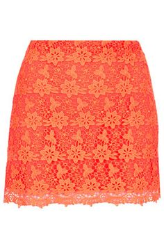 Orange lace skirt - love this shade!