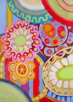 Andrew Daniel Acrylic painting. Art, flowers. Gorgeous.