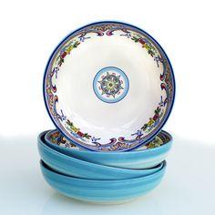 Zanzibar 4 Piece Pasta Bowl Set by Euro Ceramica #EuroCeramica