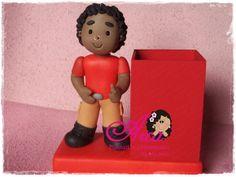Porta canetas de biscuit Pode ser da cor que desejar! R$ 50,00