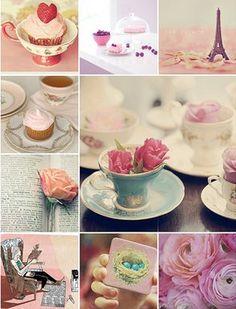 romantic pastel montage