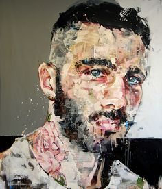 Nascido no Canadá, Andrew Salgado, de 30 anos, é uma jovem promessa da arte contemporânea e impressiona pelas manchas e pinceladas semi-geométricas que utiliza em suas pinturas. Versando temas como a masculinidade, ele cria retratos em grande escala. // Born in Canada, Andrew Salgado, 30, is a promising young contemporary art and impresses with stains and semi-geometric strokes he uses in his paintings. On subjects like masculinity, it creates large scale portraits.