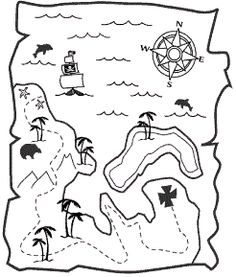 Free Printable Treasure Map from Love JK because scarlett