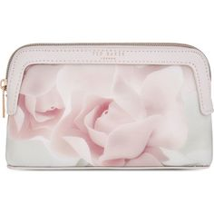TED BAKER Amallia porcelian rose make-up bag found on Polyvore featuring beauty products, beauty accessories, bags & cases, nude pink, makeup bag case, make up bag, cosmetic bags, wash bag and travel toiletry case