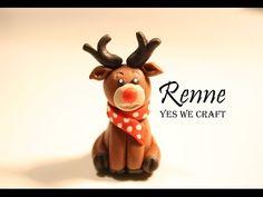 TUTO YWC #18 - Renne en fimo / Reindeer - Polymer clay - YouTube