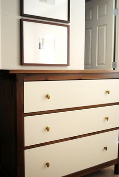 Hack of Ikea dresser- I have this dresser (but this is so much cuter)