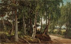 Ferdinand von Wright: Forest Landscape from Haminalahti, Finnish National Gallery / Ateneum Art Museum. Forest Landscape, Ferdinand, Old Art, Finland, Art Museum, Country Roads, Gallery, Plants, Wikimedia Commons