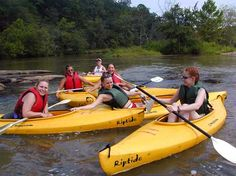 Kayaking on the Lower Rocky Broad River in North Carolina