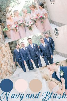 Navy and blush are the perfect colors for a summer wedding! Blush Wedding Colors, Color Palettes, Dress Ideas, Summer Wedding, Table Decorations, Navy, Wedding Dresses, Vestidos, Hale Navy