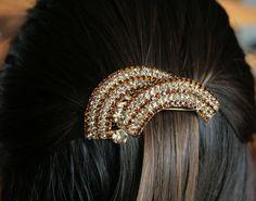 Rhinestone hair clip, precious accessories