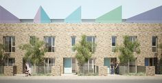 Newham Housing - Bell Phillips Architects Newham, Boarding House, Brick Facade, Social Housing, Affordable Housing, Exterior Design, Townhouse, Architects, Architecture Design