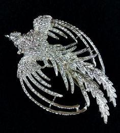 Phoenix Bridal Hair Clip Crystal Hair Jewelry by YJDesign on Etsy Phoenix Jewelry, Bird Jewelry, Bridal Hair Accessories, Jewelry Accessories, Bridal Earrings, Wedding Jewelry, Wedding Hair, Dream Wedding, Crystal Rhinestone