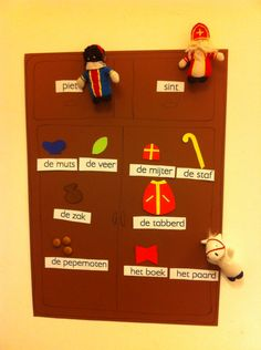 Woordenschat kleuters sinterklaas woordkast tegenstellingen A Blessing, Activities For Kids, December, 1, Classroom, Teaching, Education, Holiday Decor, Children