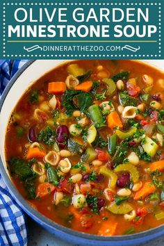 Olive Garden Minestrone Soup Copycat Recipe Page . Olive Garden Minestrone Soup Copycat Recipe Back For Seconds. BEST Minestrone Soup With VIDEO! Home and Family Best Soup Recipes, Healthy Soup Recipes, Crockpot Recipes, Vegan Recipes, Cooking Recipes, Crock Pot Soup Recipes, Simple Vegetarian Recipes, Healthy Winter Recipes, Italian Soup Recipes