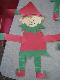 Christmas elves, heart trees.. cute December Art projects