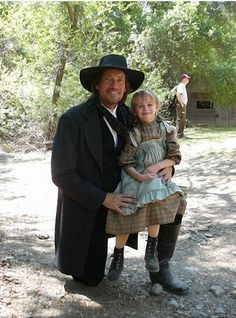 "Kevin as ""The Preacher"" in Avenging Angel with co star Joey King as ""Amelia"""