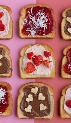 Have a Heart Toasts: Treat your sweetheart to these sweet heart-shaped fruit-topped toasts. Bananas with chocolate hazelnut spread, strawberries with strawberry cream cheese or raspberry jam with shaved coconut are especially heart-warming atop your favorite Sara Lee Bread!