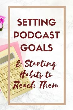 Setting goals for your podcast will help you achieve what you desire. Find out what setting goals might look like for a podcaster and go do it! Podcast Topics, Podcast Ideas, Content Marketing, Social Media Marketing, Affiliate Marketing, Digital Marketing, Business Tips, Online Business, Business Planning