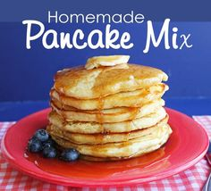 I have been making a lot of pancakes lately. My kids are out of school and home for the summer and man do they love a nice hot breakfast. Can't say I blame them. :) I'm a sucker for a good breakfas...
