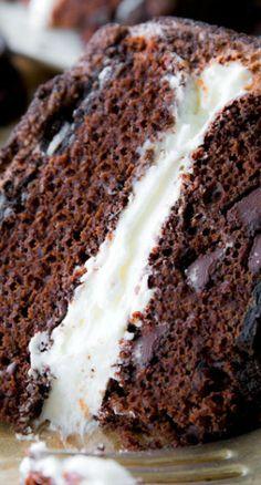 Oreo Cake! A cake like an Oreo. With Oreos stuffed inside.