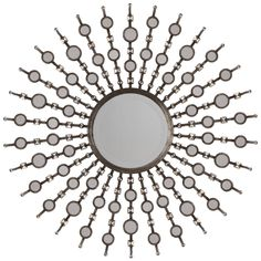 "Uttermost Sahara Sunburst 38"" High Wall Mirror -"