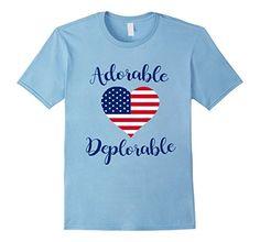 Men's Adorable Deplorable T-Shirt - USA Flag Heart Pride ...