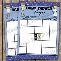 Jedi Baby BINGO Baby Shower Game INSTANT DOWNLOAD By PartiesR4Fun