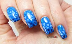 Blue Mosaic Nails for Blue Friday #15