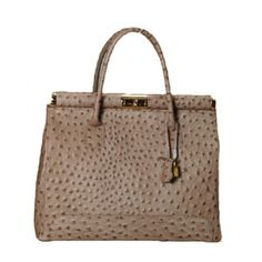 Sophia Ostrich Large Bag Clay, $289, now featured on Fab.