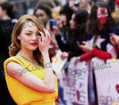 """Emma Stone at the London premiere of """"Spiderman 2"""" April 10, 2014"""