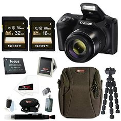 Canon PowerShot SX420 IS 20 MP Digital Camera with 48GB Accessory Bundle >>> Be sure to check out this awesome product.
