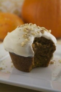 October is here, which means a parade of pumpkin-inspired recipes is sure to hit my kitchen. These muffins are a fabulous way to kick off the procession. Vegan Sweets, Vegan Desserts, Just Desserts, Delicious Desserts, Dessert Recipes, Yummy Food, Vegan Recipes, Vegan Foods, Vegan Dishes