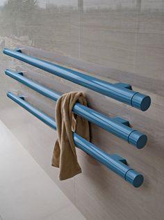 Horizontal wall-mounted decorative #radiator T.B.T by Tubes Radiatori | #design Ludovica+Roberto Palomba @tubesradiatori